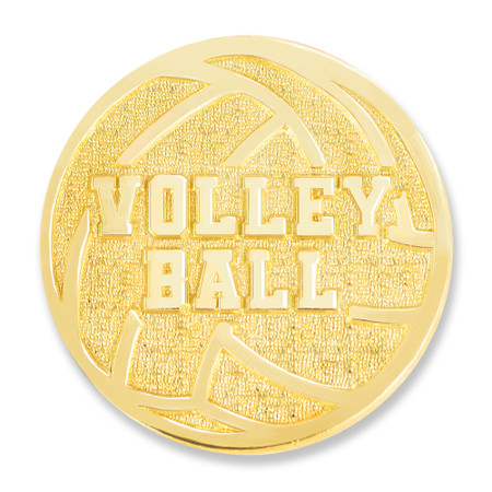 Volleyball Chenille Lapel Pin Front