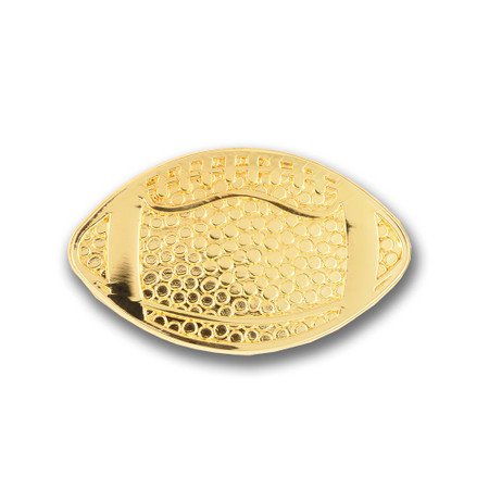 Football Chenille Lapel Pin Front