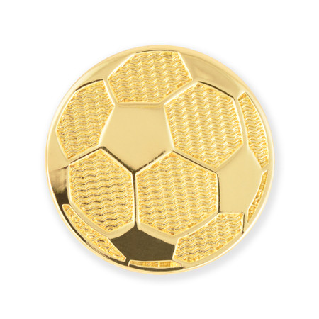 Soccer Chenille Lapel Pin Front