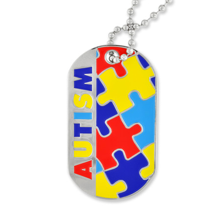 Autism Awareness Dog Tag - Engravable Front