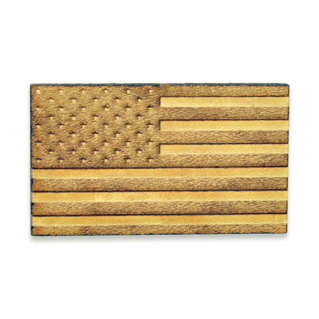 American Flag Wood Pin Front