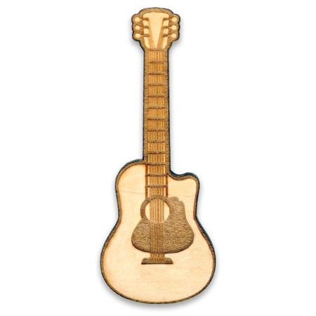 Guitar Wood Pin Front