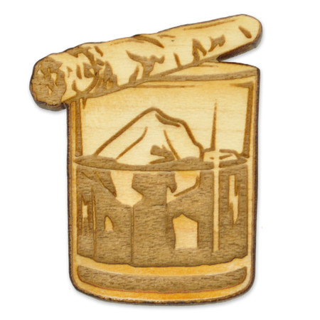 On The Rocks Wood Pin Front