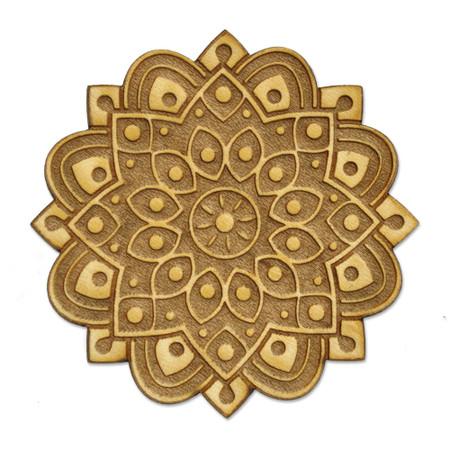 Spiritual Mandala Wood Pin Front