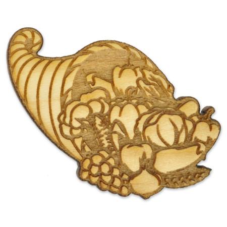 Cornucopia Wood Pin Front