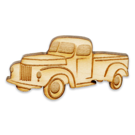 Vintage Truck Wood Pin Front