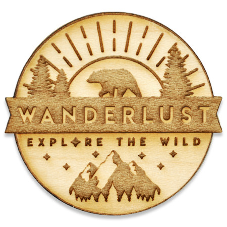 Explore The Wild Wood Pin Front