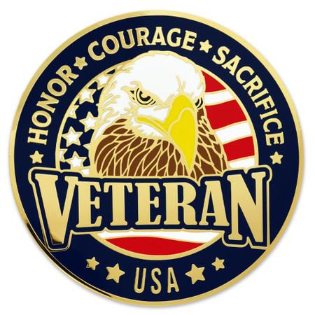 U.S. Veteran Coin - Engravable Front