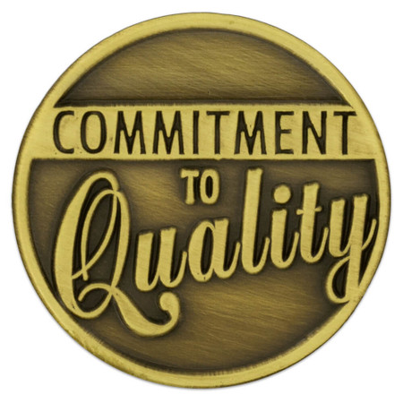 Commitment to Quality Lapel Pin Front