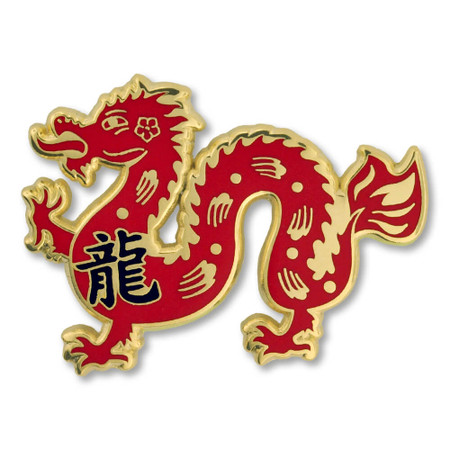 Chinese Zodiac Pin - Year of the Dragon Front
