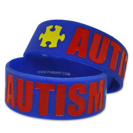 Autism 1 Inch Wide Rubber Bracelet 1