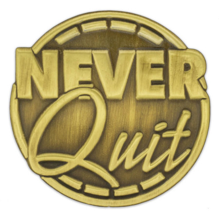 Corporate - Never Quit Pin Front