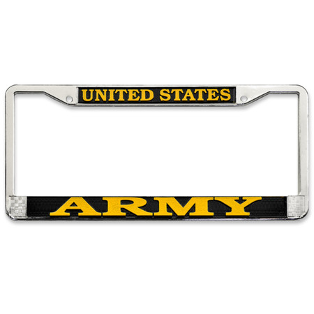 US Army License Plate Frame Front