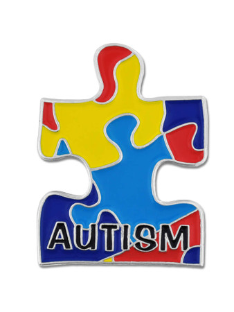 Autism Puzzle Pin Front