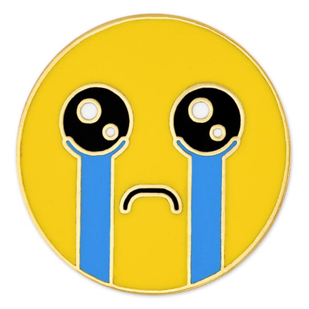 Crying Emoji Pin Front