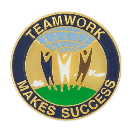 Teamwork Makes Success Pin Front