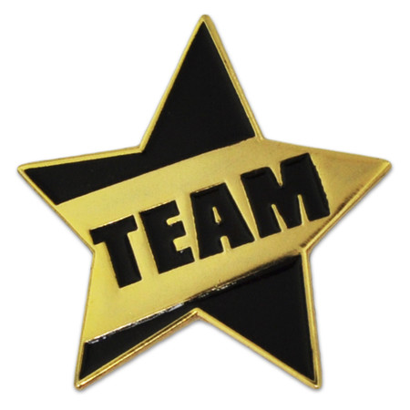 Teamwork - Team Star Pin Front