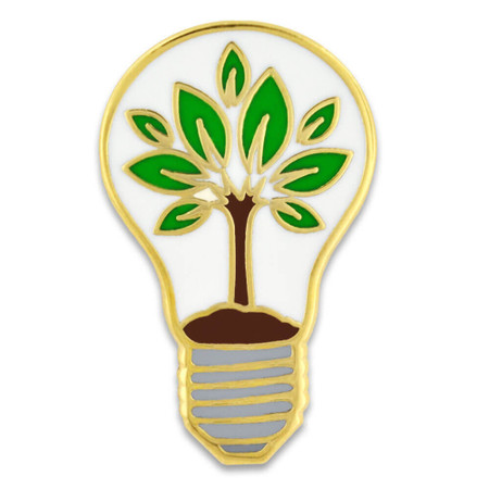 Eco-Friendly Light Bulb Pin Front