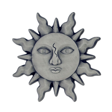 Silver Sun Lapel Pin