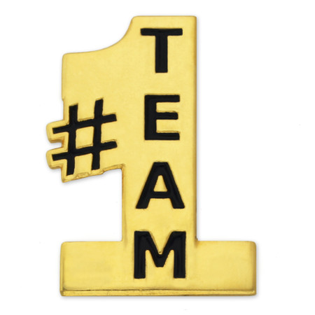 #1 Team Pin Front