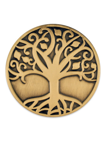 Tree of Life Pin Gold Front