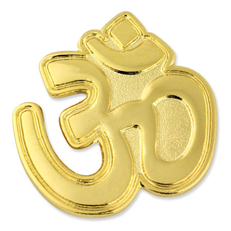 Aum (Om) Hindu Yoga Pin Front