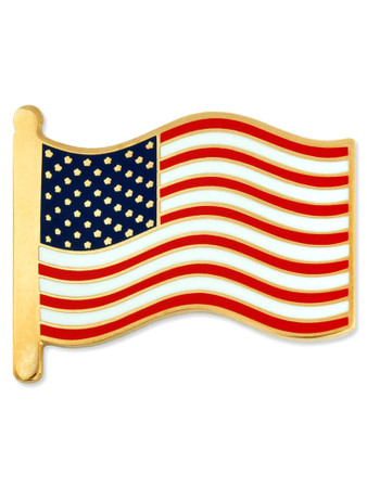 American Flag Pin - Cloisonn� Hard Enamel Front