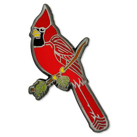 Cardinal Bird Pin Front