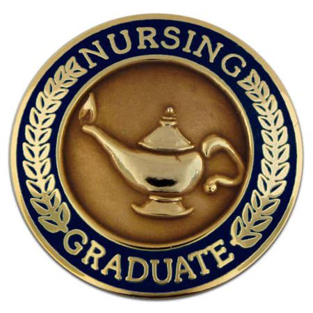 Nursing Graduate Pin - Navy Blue Front