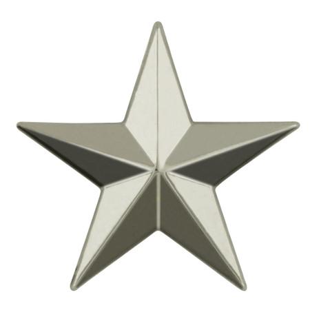 3D Star Pin Silver