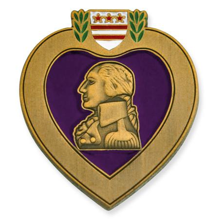 Purple Heart Veteran Pin Front