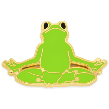 Yoga Frog - Easy Pose Pin Front