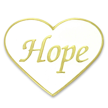 Hope Heart Pin Front