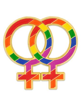 Double Venus Symbol Pin Front