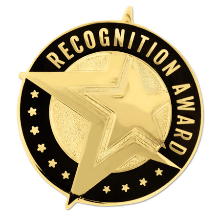 Recognition Award Pin Gold Front
