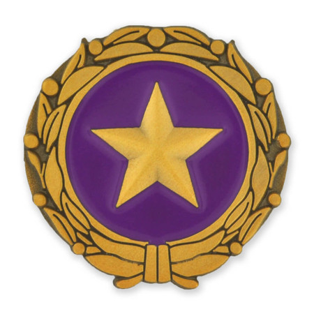 Gold Star Military Surviving Spouse Pin