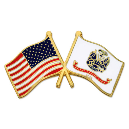 U.S. and U.S. Army Flag Pin Front