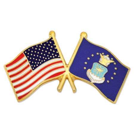 and Air Force Flag Pin Front