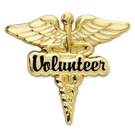 Volunteer Caduceus Lapel Pin Front