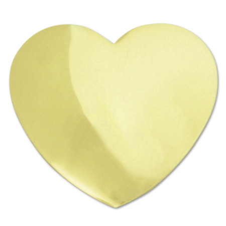 Gold Heart Lapel Pin Front