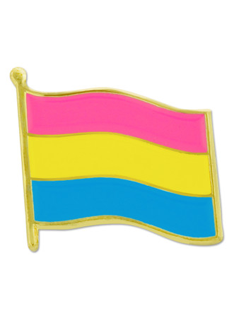 Pansexual Pride Flag Pin Front