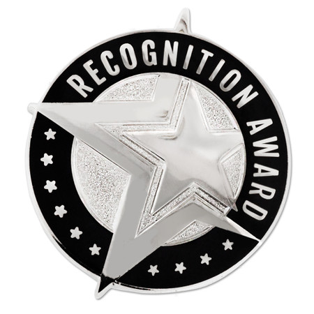 Recognition Award Pin Silver Front