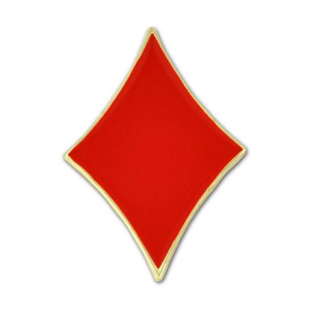 Red Diamond Lapel Pin Front