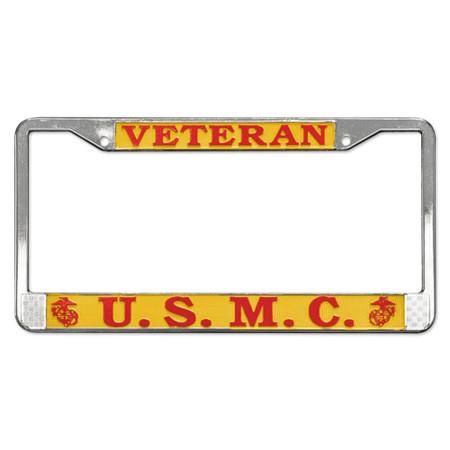 Marine Veteran License Plate Frame