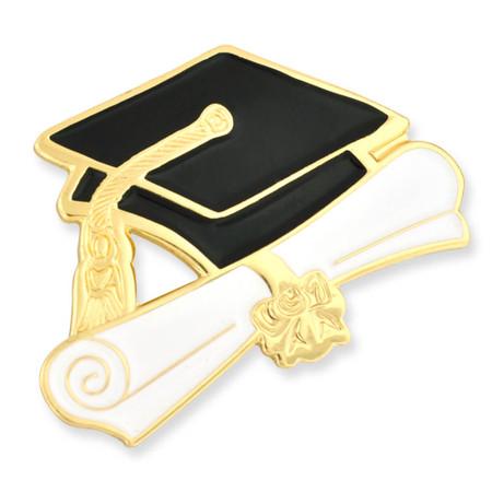Graduation Cap and Diploma Pin