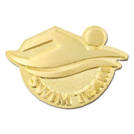 Swim Team Pin Front