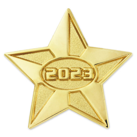 2023 Gold Star Pin Front