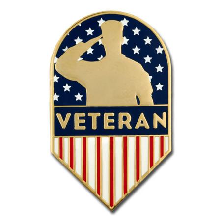 Veteran Shield Pin Front