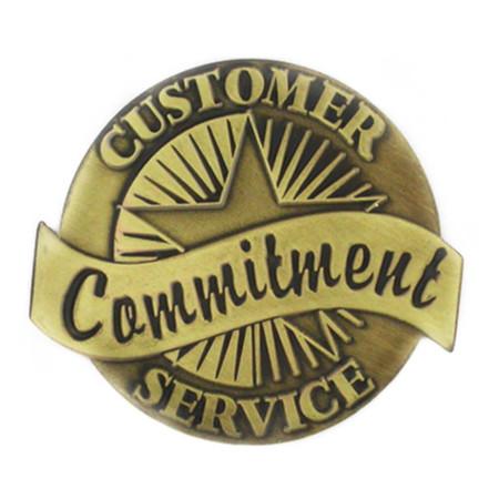 Customer Service Commitment Pin