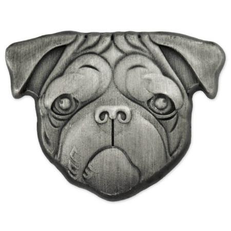 Pug Dog Pin Front